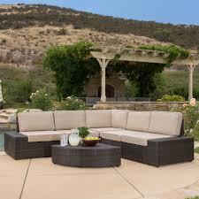 Best Wicker Patio Furniture Amazon Com Reddington Outdoor Brown Wicker Sectional Seating