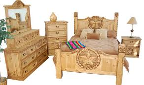 King Size Bedroom Set With Armoire Rustic King Bed With Texas Star U0026 Bedroom Set 02 1 10 09 66