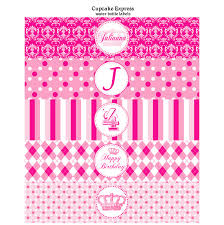 preppy couture printable water bottle labels