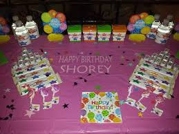 birthday party table labels customer ideas onlinelabels com