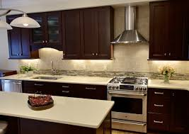 Kitchen Color Ideas With Cherry Cabinets Cherry Cabinets With Quartz Countertops Waypoint Cabinets With A