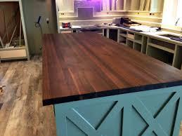 fake butcher block countertop modern kitchen