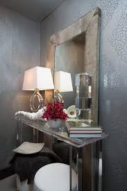 Tiny Powder Room Ideas Art Deco Powder Room With Silver Wallpaper Susan Brunstrum Hgtv