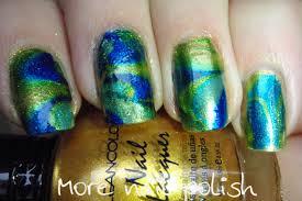 my take on dry water marbling more nail polish