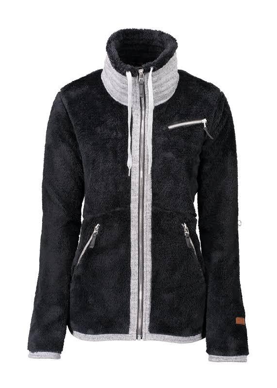 Obermeyer Britt Fleece Jacket Black Large 17044-BLACK-L
