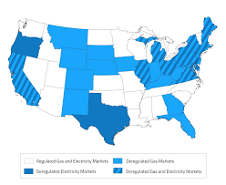 Map Of Florida Cities And Towns by Map Of Deregulated Energy States Updated 2017 U2013 Electric Choice