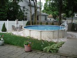 Unique Backyard Ideas by Cool Backyard Landscaping Idea With Swimming Pool Also Concrete