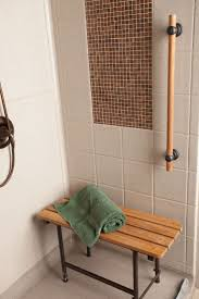 99 best bestbath showers tubs accessories images on pinterest designer series unit with tile inlay and beautiful teak fold up seat and teak grab bar