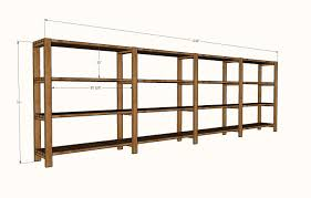 Wood Shelf Plans Free by Ana White Easy Economical Garage Shelving From 2x4s Diy Projects