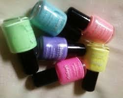 pastel neon nails
