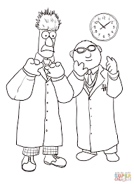 beaker and bunsen honeydew coloring page free printable coloring