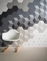 love hexagonal tiles and baby block pattern bathroom