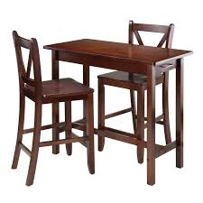 winsome trading parkland 3 piece counter height dining table set