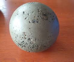 Gazing Ball Fountain Making Concrete Balls 6 Steps With Pictures