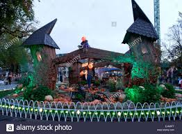 halloween decorated halloween decorated tivoli copenhagen denmark stock photo royalty