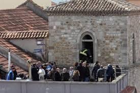 Il tetto della chiesa dove fu ritrovato il corpo di Elisa
