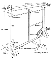 Simple Free Standing Shelf Plans by How To Build A Free Standing Wooden Clothes Rack Plans Diy Free