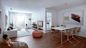 living room minimalist living room and dining room decoration