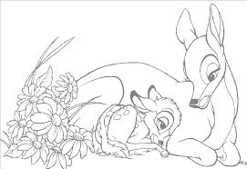 mom and bambi coloring pages free cartoon coloring pages of