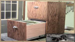 2 Drawer Oak Wood File Cabinet by Make A Simple 2 Drawer Filing Cabinet Youtube