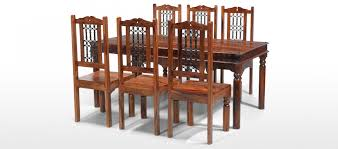 jali sheesham 180 cm thakat dining table and 6 chairs quercus living