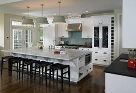 Kitchen Island Lamps Kitchen Incredible U Shape White Kitchen Decoration Using White
