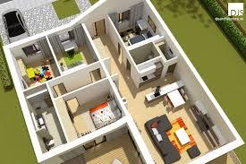 L Shaped House Floor Plans Plan Of L Shaped House Bungalow L135 Djs Architecture