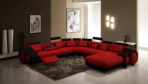 Black Leather Couch Living Room Ideas Funiture Modern Reclining Sofa Ideas For Living Room Using Beige