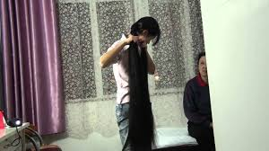 chinese long hair cut youtube