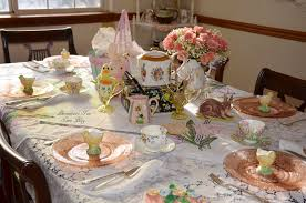 Easter Decorations For Home Bernideen U0027s Tea Time Cottage And Garden Easter Table For
