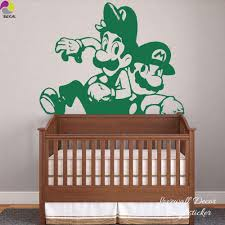 compare prices on mario brothers wall decals online shopping buy cartoon mario wall sticker boy room baby nursery anime super brother wall decal kids room sofa