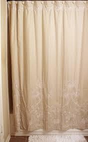 bathroom cream linen fabric shower curtains for bathroom