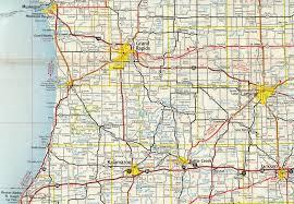Detroit Michigan Map by Interstate Guide Interstate 96