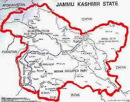 کشمیر کا نقشہ Kashmir map