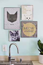 25 best cat decor ideas on pinterest cat things cat quotes and purrfect gallery wall