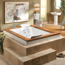 bathroom awesome modern white jacuzzi tub design with black wall