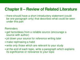 Writing thesis chapters guidelines SlideShare Example of definition of terms     FAMU Online