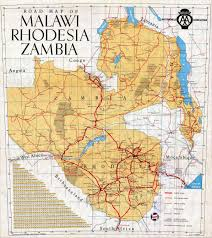 Africa Map Game by Malawi Rhodesia And Zambia Road Map Malawi Africa U2022 Mappery