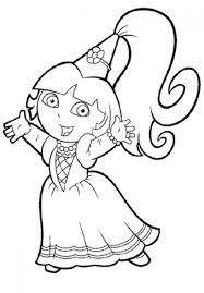 princess dora the explorer coloring pages 01 at dora coloring