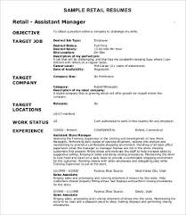 Sample Retail Resumes      Free Word  PDF Documents Download     Template net
