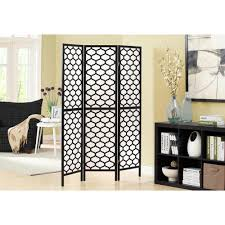 Room Divide by Monarch Specialties 5 92 Ft Black 3 Panel Room Divider I 4639