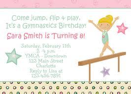 Birthday Invitation Cards Models Gymnastics Birthday Party Invitations Themesflip Com