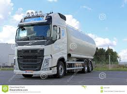 volvo group trucks white volvo tank truck for food transport editorial photo image