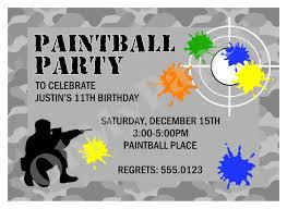 Retirement Function Invitation Card Paintball Party Invitations Theruntime Com