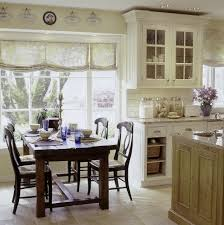 home design country kitchen with classic style cabinets and long