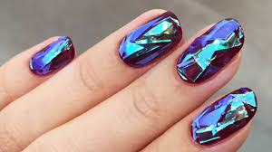 shattered glass nail tutorial youtube