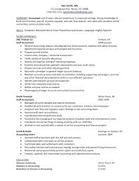 Accounts Payable Resume Skills Sample Resume Of A Cpa Free Resume Example And Writing Download