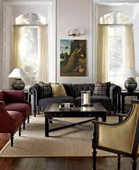 Living Room Design Ideas With Grey Sofa Grey Chesterfield Sofa With An Amazing Oil Painting Print Above It