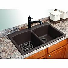 Franke Dual Mount Composite Granite Xx Hole Double Basin - Granite kitchen sinks pros and cons