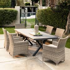 Patio Umbrella Side Table by Belham Living Brighton Outdoor Wood Extension Patio Dining Set